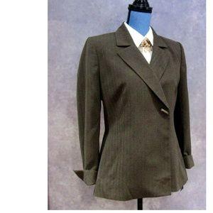NWT Le Suit Classic Elegant Toggle Brown Blazer 6